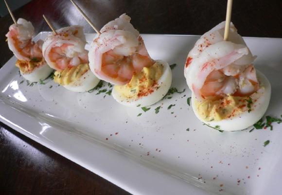 La Cocotte Verte » Blog Archive » Shrimp Deviled Eggs with Piment ...